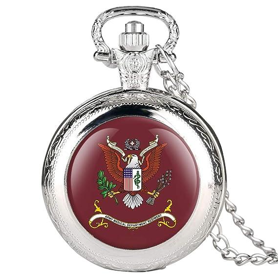 Reloj de Bolsillo Plateado para Hombre, diseño de águila roja, Reloj de Bolsillo para niño, Reloj de Bolsillo Digital árabe para Adolescentes: Amazon.es: ...
