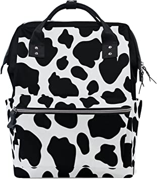 Cow spots Personalized Diaper Bag Backpack Large Capacity Bags for Boys /& Girls,diaper bag backpack Neutral Travel Back Pack