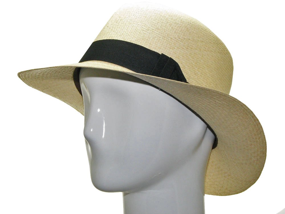 ENGLISH OPTIMO Panama Hat Natural Straw Classic 7 3/4 by Ultrafino