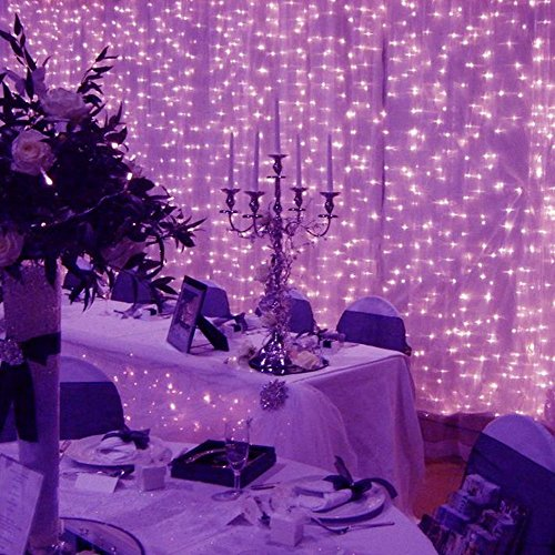 LIIDA 300 Led Icicle String Curtain Lights for Indoor Bedroom, Outdoor Patio, Wall, Christmas, Party Decoration with Remote Controller, 9.8 x 9.8ft, 8 Modes, Waterproof