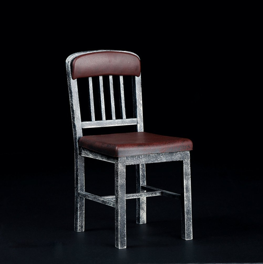 Phicen 1//6th Scale Metal Color Chair Assembly Phicen Limited Silver Old