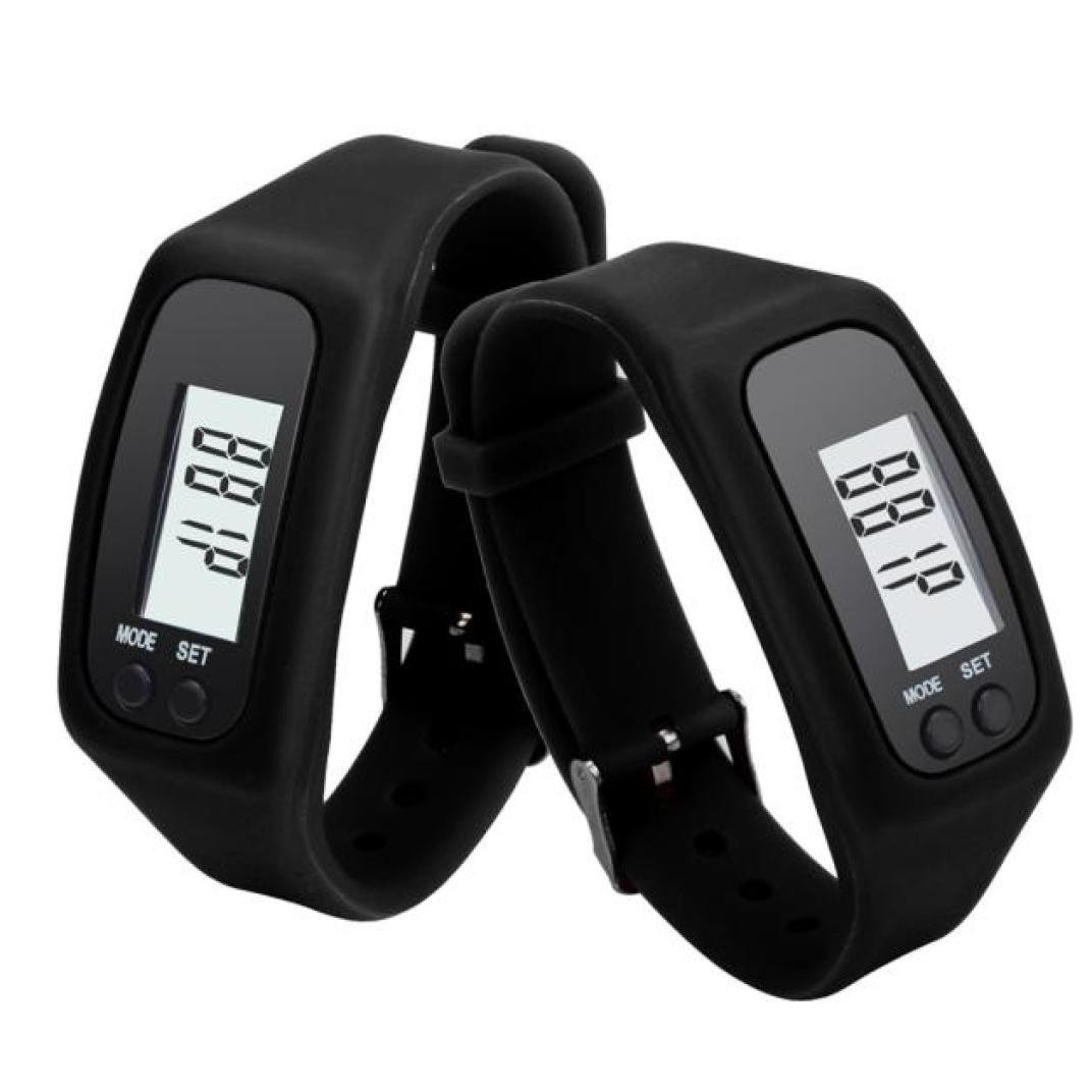 Amazon.com: Womans Watch,Digital LCD Pedometer Run Step Walking Distance Bracelet Calorie Counter Clock Axchongery (Black): Clothing