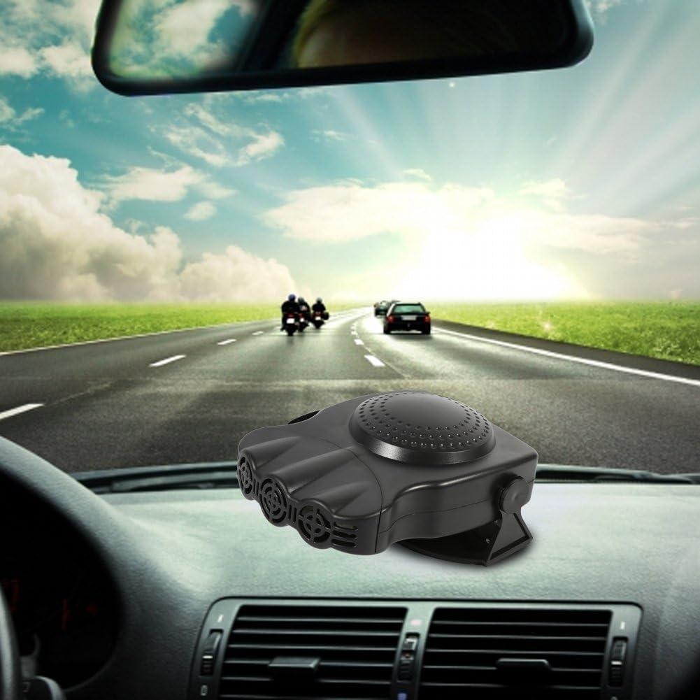 Car Heating Cooling Fan 2V 150W 2 in 1 3 Outlet Car Vehicle Heater 180 Degree Rotatable Heating Cooling Fan Windscreen Demister Defroster