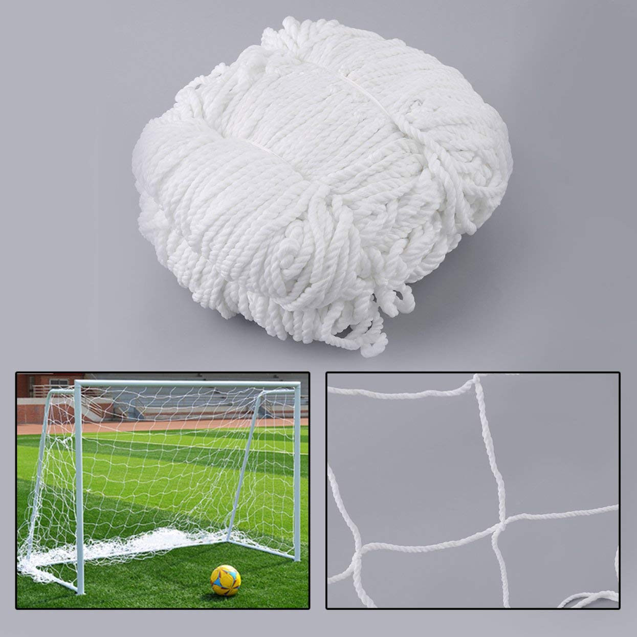 Tree-on-Life 3mx2m Football Soccer Goal Post Net Sports Match Training Replacement White Polypropylene Cotton Blended Material