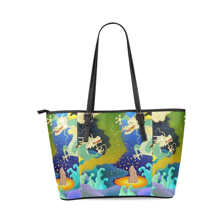 Dragon Custom PU Leather Large Tote Bag/Handbag/Shoulder Bag for Fashion Women /Girls