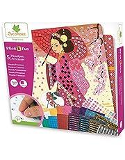 Sycomore CRE7002 zelfklevende mozaïek voor kinderen, 5 prinsessenfoto's, creatieve vrijetijdsvormgeving, stick & fun-vanaf 5 jaar, sycomore-CRE7002, meerkleurig