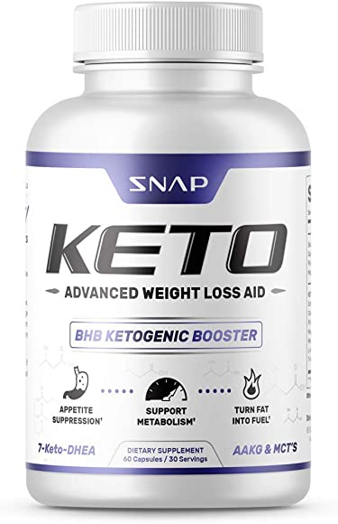 Keto Diet Pills – Weight Loss Pills by Snap Supplements – MCT Oil Diet Supplement – Ketogenic Ketosis 700mg Formula – L-Arginine – Suppresses Appetite, Supports Metabolism – 60 Capsules