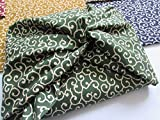 6 pieces Japanese Wrap cloth FUROSHIKI, Arabesque design made in Japan New