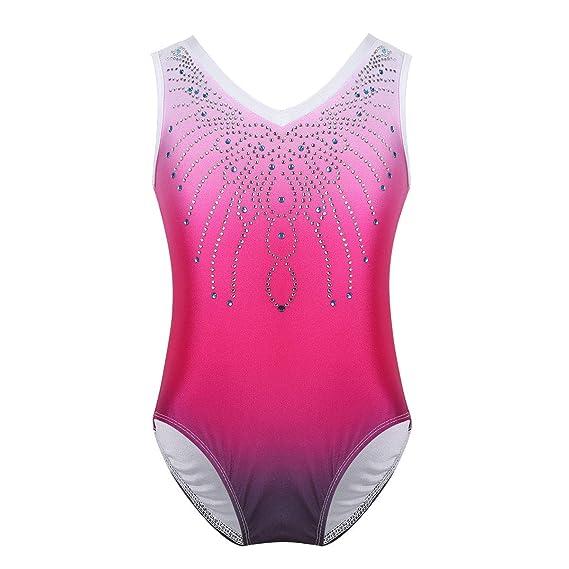 Kids Girls Ballet Dance Leotard Mermaid Glittery Gymnastics Bodysuit Dancewear