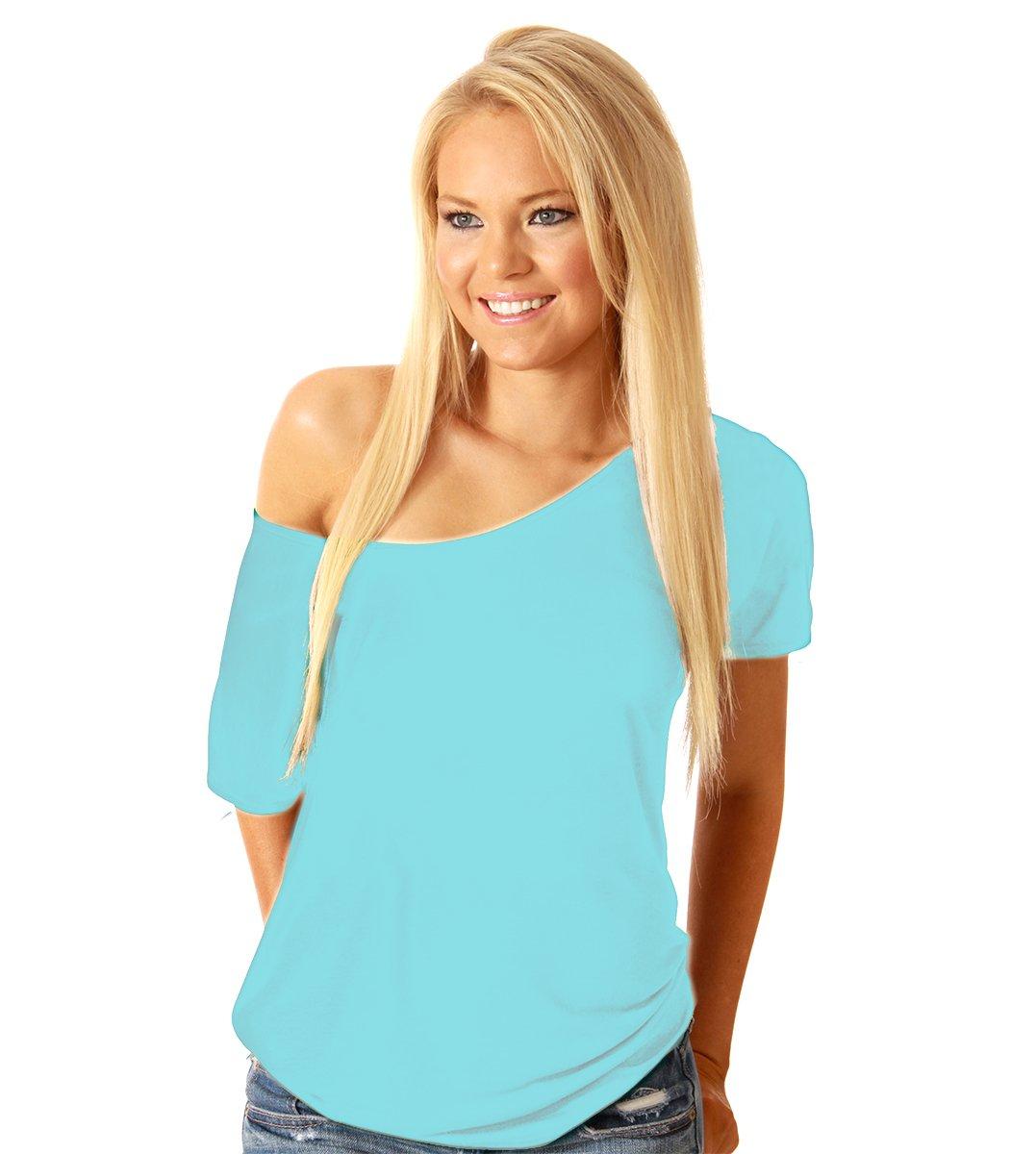 Ayah Women's Sexy Loose Short Sleeve Off Shoulder Casual Blouse Top Shirt