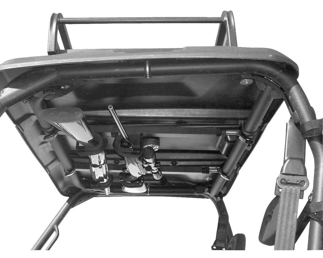 Great Day Quick-Draw Overhead Gun Rack - For UTVs With Roll Bar Depth of 28-35in - Black Powder-Coated Finish - 2 Gun Model, QD851-OGR
