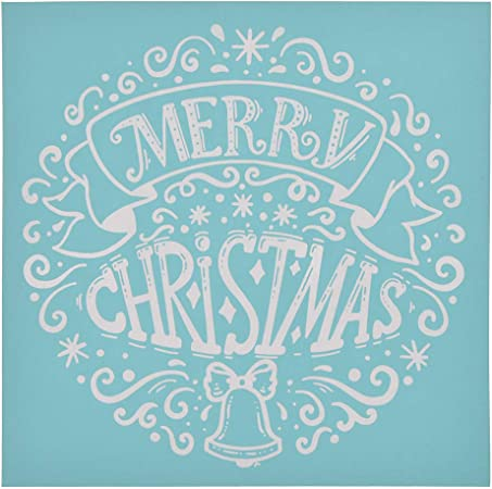 and Home Decoration CHZIMADE Christmas Theme Self-Adhesive Silk Screen Stencil Printing Mesh Transfers for Bag T-Shirts Paper