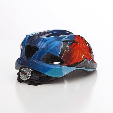 61c632f8d Casco De Bicicleta para Niños/Casco De Seguridad para Niños Ajustable, con Luces  LED
