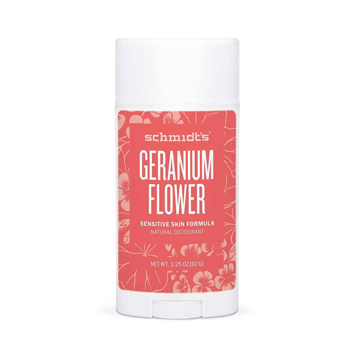 Geranium Flower Sensitive Skin Deodorant Stick Odor Protection and Wetness Relief  Aluminum-Free (3.25 ounces)