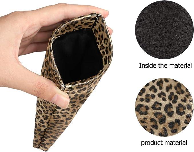 XMCL Animal Leopard Skin Sunglasses Case Portable Multiuse Glasses Holder Pocket Eyeglass Accessories for Women Man