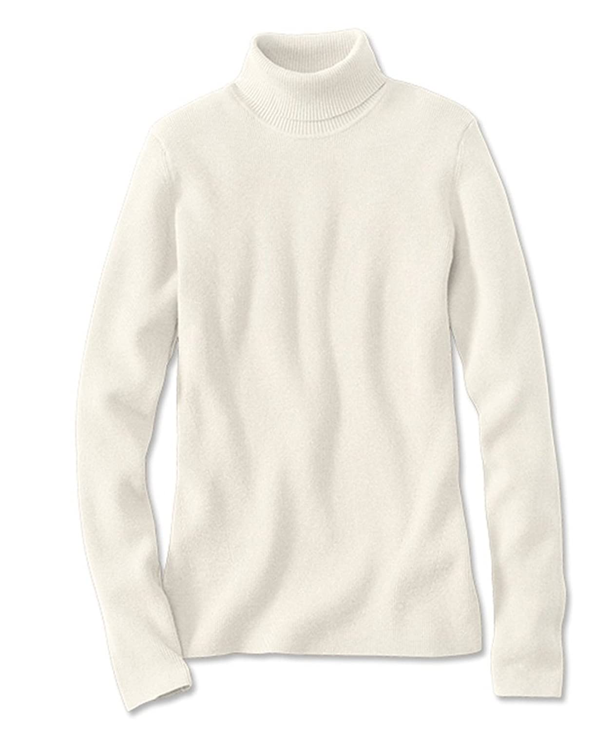 Orvis Women's Ribbed Cotton-blend Turtleneck, Snow