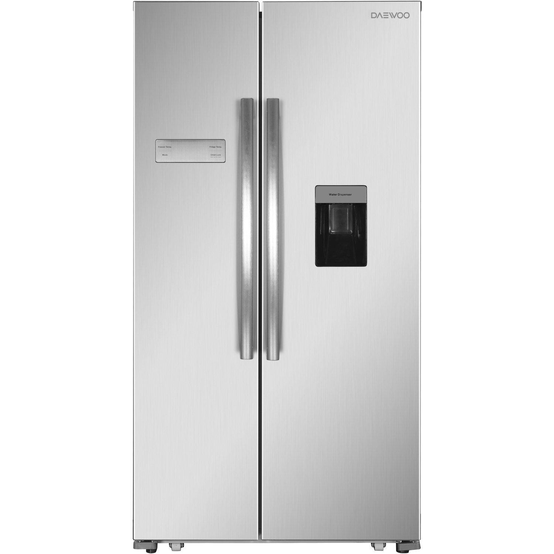 Daewoo FRAH52WD3S American Fridge Freezer With Water Dispenser - Silver:  Amazon.co.uk: Large Appliances