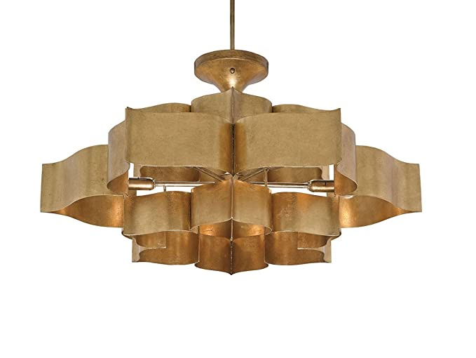 Currey and company 9494 grand lotus six light chandelier antique currey and company 9494 grand lotus six light chandelier antique gold leaf finish aloadofball Images