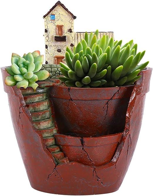 Zerodis 1 Unids Resina Maceta, para Colgar, Diseño de Jardín, Planta Maceta Micro Paisajismo Pot Titular Colgante Macetas de jardín para Plantar Plantas Suculentas Decoración del Jardín: Amazon.es: Hogar