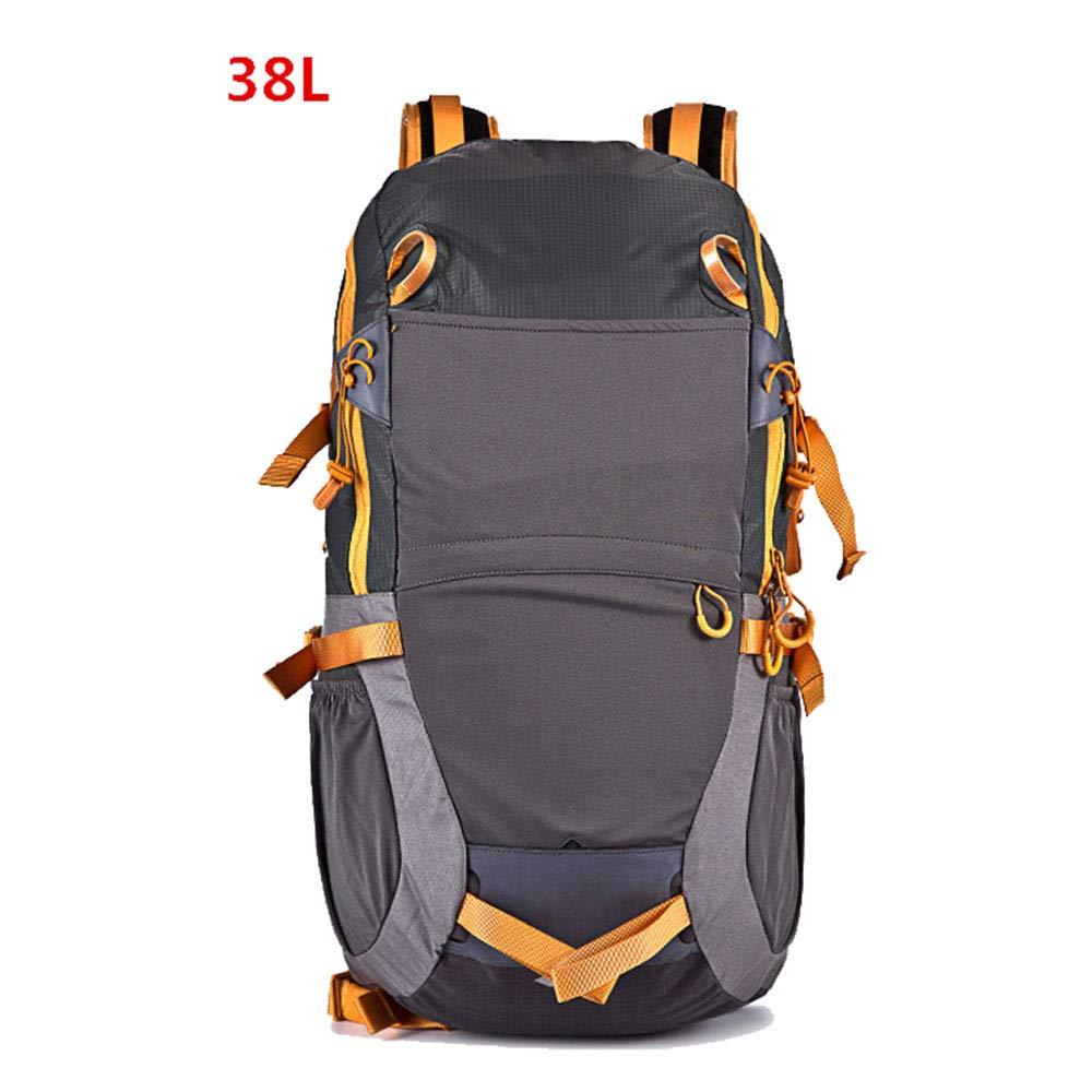 ハイキングバックパック男性と女性のアウトドアハイキングバックパック38 L  Gray B07Q1NTJCT
