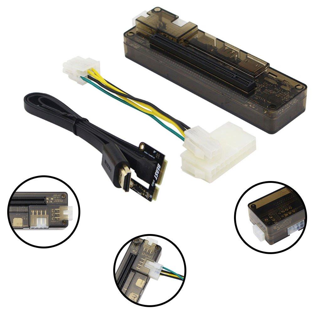 EXP GDC PCIE-E 16X Beast, PCIe PCI-E V8.4D EXP GDC Externer Laptop Grafikkarte Dock/Laptop Docking Station (Mini pci-e-schnittstelle Version) Negro GEZICHTA
