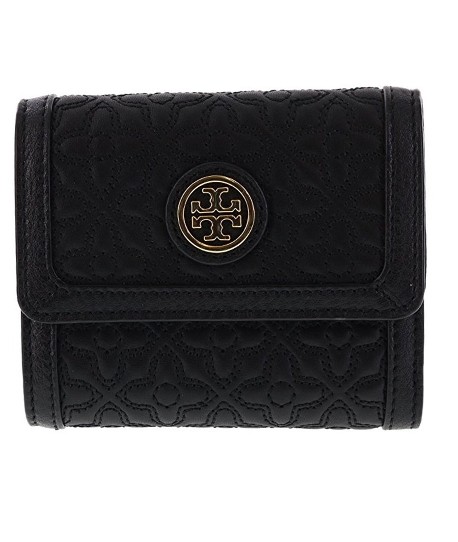 Tory Burch Bryant Mini Wallet in Quilted Leather, Style No 34031 (Black)