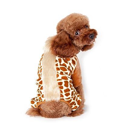 9f8b48076 Gold Wing Cute Cozy Coral Fleece Sweetie Leopard Print Pet Dog Coat  Jumpsuit Hoodie Brown L