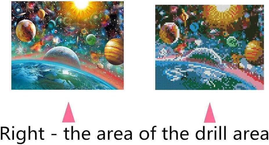 5D con motivo i pianeti 25cm x 30cm punto croce 8150 kit per diamond painting WFZ17 senza bordi