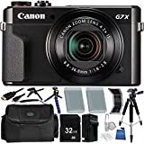 Canon PowerShot G7 X Mark II Digital Camera - International Version (No Warranty) 32GB Bundle 18PC Accessory Kit Which Includes Two Replacement NB-13L Batteries, 5 Piece Camera Cleaning Kit, MORE