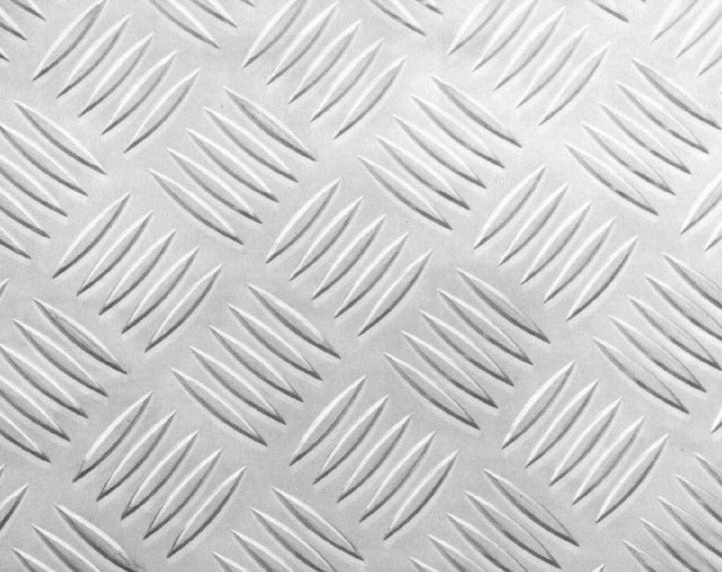 3003 Bright Aluminum 5-Bar Tread - .063 x 48 x 24 by IMS