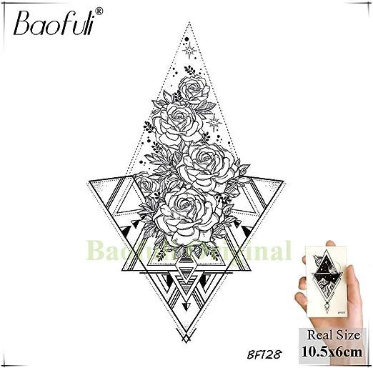 Yyoutop 8 unidsBaofuli Sketch Art Tattoo Rose Geométrico Dejar ...