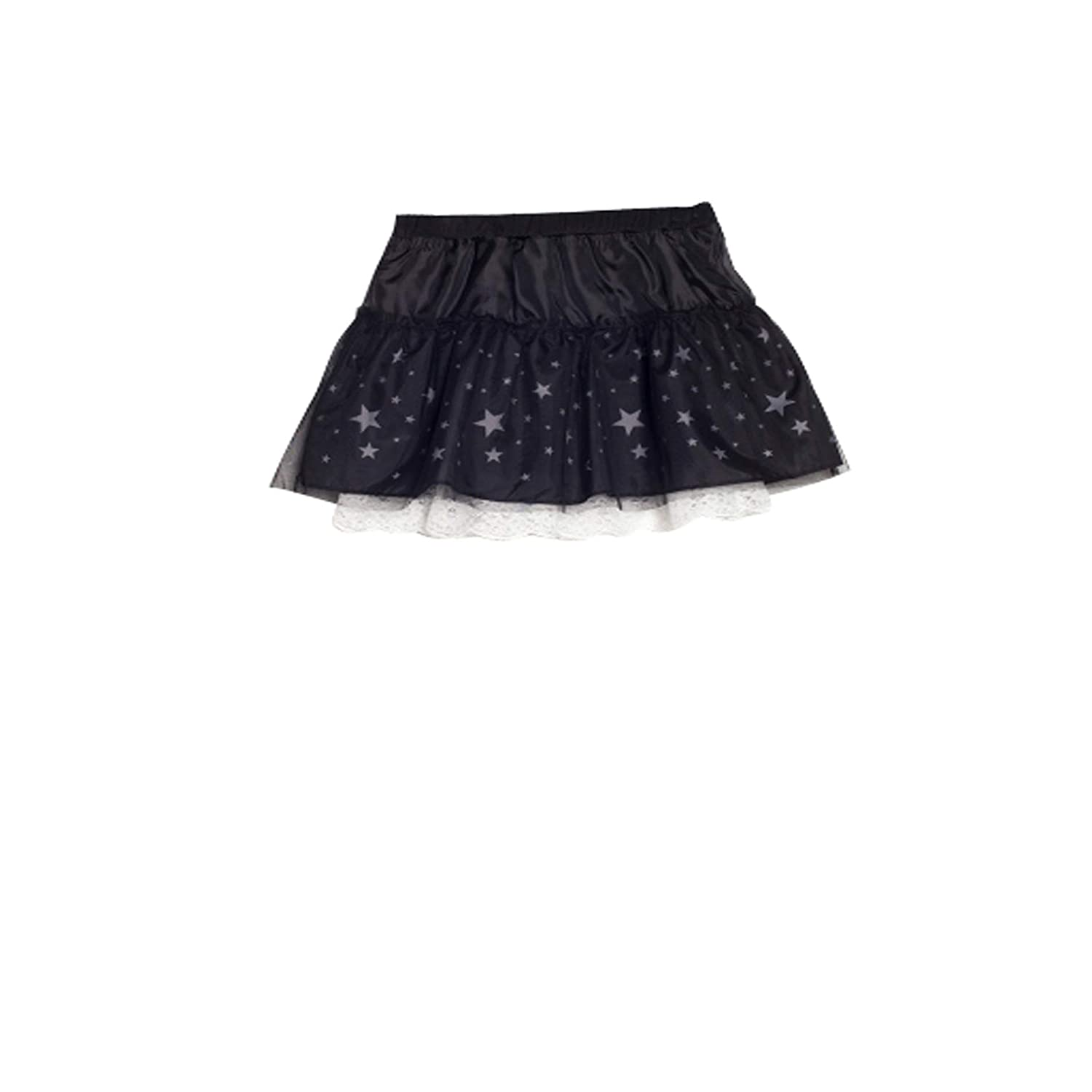 Bossini Kids Child Girls Layered Star Tutu Skirt Princess Halloween Black