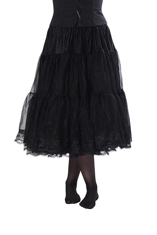 b4c5deabac18 Cosette Tea-Length Chiffon Petticoat Underskirt Full Slip w/Lace Bottom for  Wedding/Formal Dress Vintage Clothing at Amazon Women's Clothing store:  Costume ...
