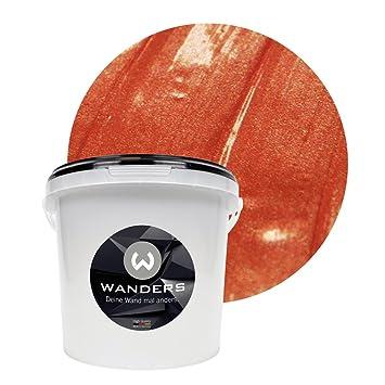 Wanders24 Effet Métal (3 L, Cuivre) Peinture à Effet, Peinture Murale,