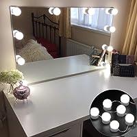 Led-make-uplamp, make-upspiegellamp, Hollywood Art spiegelverlichting, USB-stekker met 10 dimbare ledlampen voor make…