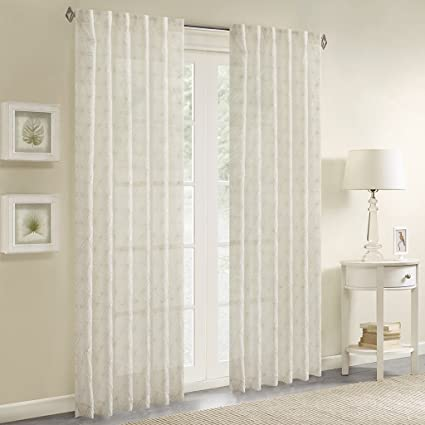 Amazon.com: Sheer Curtains For Bedroom, Modern Contemporary Sheer ...