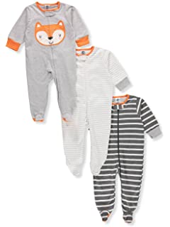 Amazon.com  Gerber Baby Boys  2 Pack Zip Front Sleep  n Play  Clothing d75c0ac57
