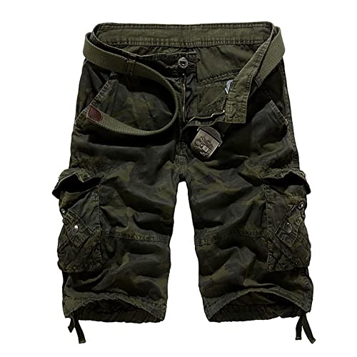 Sunshey Cotton Outdoor Military Camouflage Cargo Shorts Men Summer Casual Multi Pockets Shorts