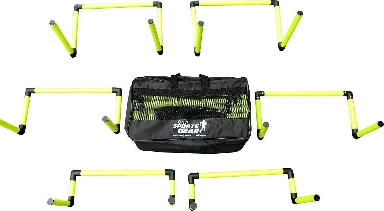 "Sportsgear Set Of 6 Adjustable Speed Agility Hurdles Set 6"" 9"" 12"" (2 Each): Clothing"