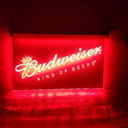 Amazon Com Lamazo Budweiser King Of Beers Bar Pub Led Light Sign Home Improvement