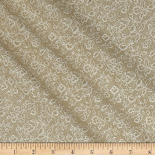 108in Wide Back Collection White/Tea Stain Fabric by The Yard
