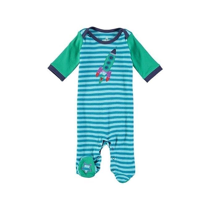 Rockin Baby Laughin Rocket Applique Footie-Polaina Bebé-Niñas azul ...