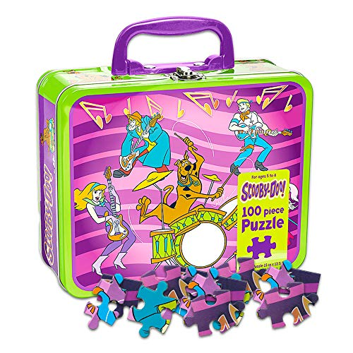 Scooby Doo Lunch Box with Puzzle ~ Collectible Scooby Lunchbox Tin (Scooby Doo School Supplies) ()