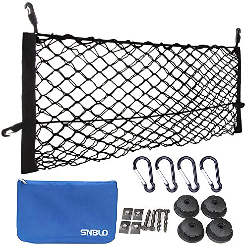 "Toyota Tailgate Net (Truck Cargo Net [36""x11""] - Rear Cargo Organizer By SNBLO - Mesh Storage for Truck SUV Cara)"