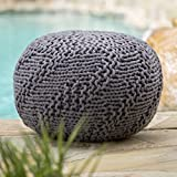Christopher Knight Home 299702 Hazel Ckh Indoor Pouf, Dark Grey