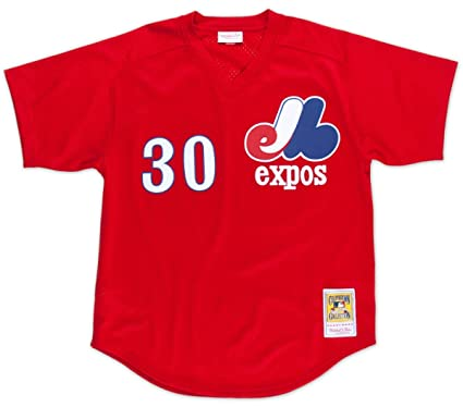 Mitchell   Ness Tim Raines Montreal Expos Authentic 1989 Red BP Jersey e99e05be8
