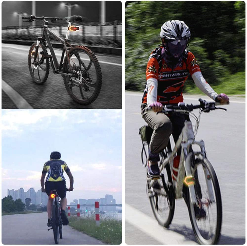 Bicycle Smart Wireless Remote Control Front and Rear Turning Signals LED Light for Cycling Safety Warning Light