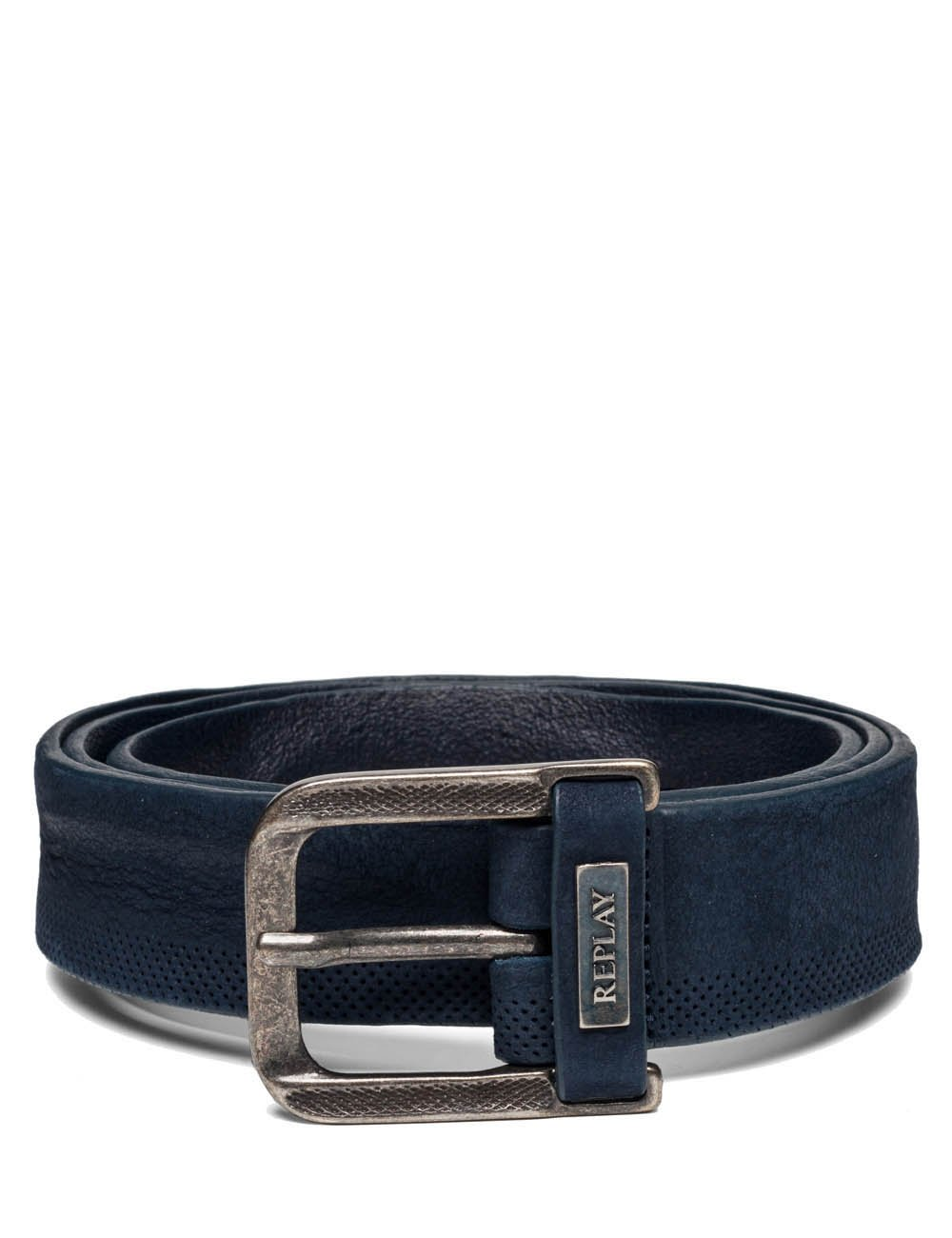Replay Men's Men's Leather Blue Belt in Size 100 Blue