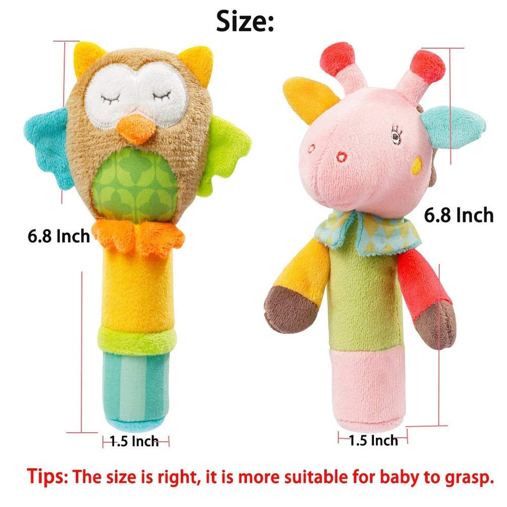 Rattles Baby Toy Plush Hand Rattle Animal Bb Stick Hand Rattle Rattle Cartoon Nm Toys For Baby