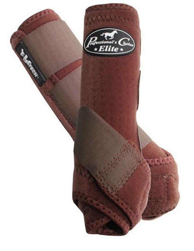Professional's Choice Equine Sports Medicine Ventech Elite Leg Boot Value Pack, Set of 4 B074TVV9V5 Large|Chocolate